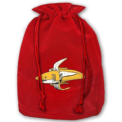 ラッピング袋 ナップサック 巾着袋 サメ バナナ プリント ...