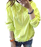ELPIS レディース ナイロン ジャケット ウインドブレーカー 無地 ジャンパー パーカー フード パステル カラー シンプル 4色 春 秋 ( イエロー )