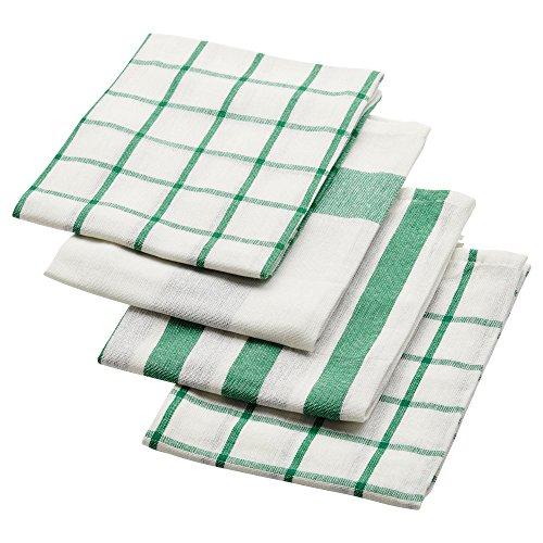 RoomClip商品情報 - IKEA ELLY 20277766 キッチンクロス ホワイト グリーン 50x65cm 4 ピース