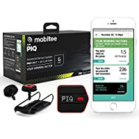 Mobitee and PIQ Unisex Adult Shot Tracker Golf Shot Tracker GPS and Swing Analyzer - Red Black, One Size