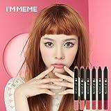 【MEMEBOX】アイムミミ・マットリップクレヨン (I'm Meme Matte Lip Crayon) / 6色中選択1色 / 正品・海外直送品 (CY253. Blair)