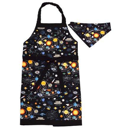 エプロン130-160 三角巾付き 太陽系惑星とコスモプラネ...