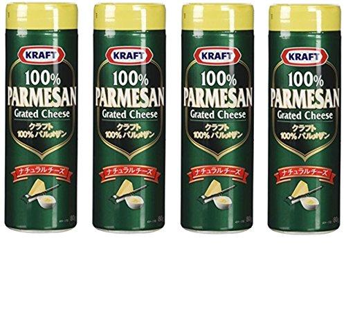 【まとめ買い】クラフト 100% パルメザンチーズ 80g × 4個