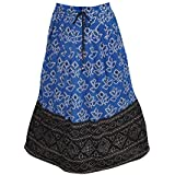 Ladies Broom Skirt Bandhani Jaypuri Printed Festive wear Summer Chic Bohemian Long Skirts One Size