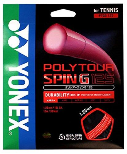 ヨネックス(YONEX) テニス ストリング ポリツアースピンG125 PTGG125 ゲージ: 1.25mm