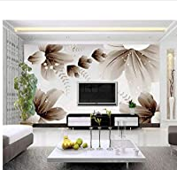 Weaeo カスタム写真の壁紙のモダンな3D壁の壁紙花柄のデザインのベッドルームのオフィスのリビングルーム壁紙の壁画-280X200Cm