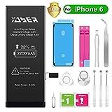 Yaber iPhone6 バッテリー 大容量2200mAh PSEマーク 標準工具セット付き のアイフォン6 バッテリー[2年間の保証]
