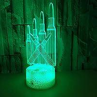色付きペン3DナイトライトギフトライトクリエイティブテーブルランプベッドサイドランプLED省エネ誕生日プレゼント子供子供リビングルームのベッドルームのクラックカラフル:タッチ+リモート