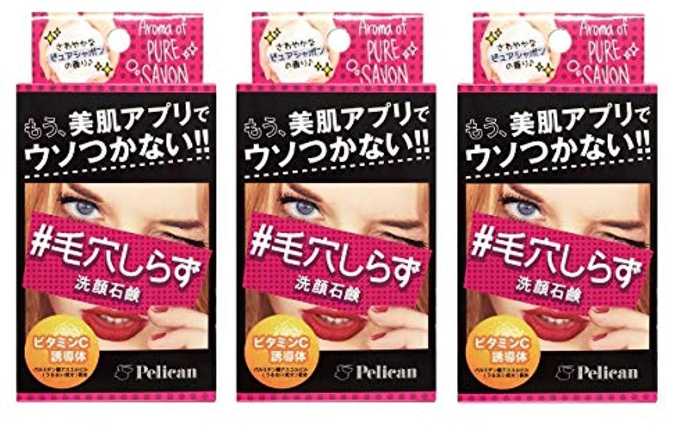 【3個セット】ペリカン石鹸 毛穴しらず洗顔石鹸 75g【3個セット】