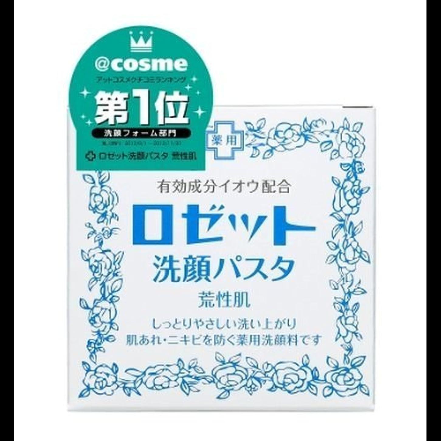 ハーネス失業擁する【まとめ買い】ロゼット 洗顔パスタ 荒性90g ×2セット