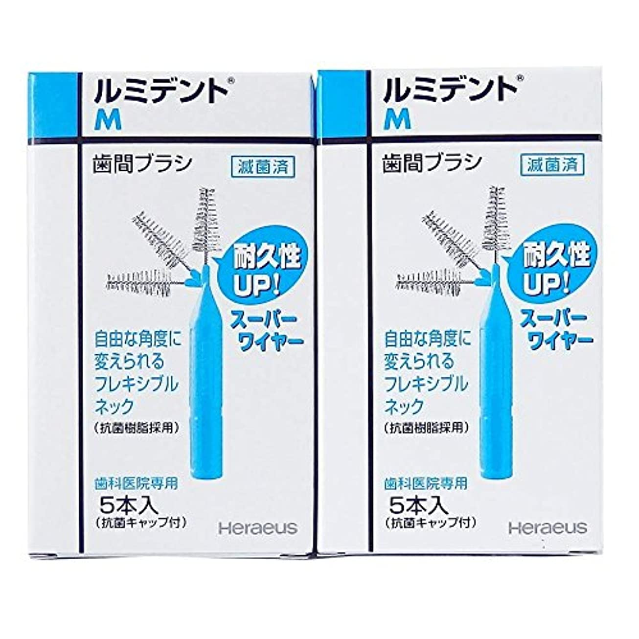 戦い絶滅前投薬ヘレウス ルミデント歯間ブラシ 5本入×2個 (M)歯科医院専用