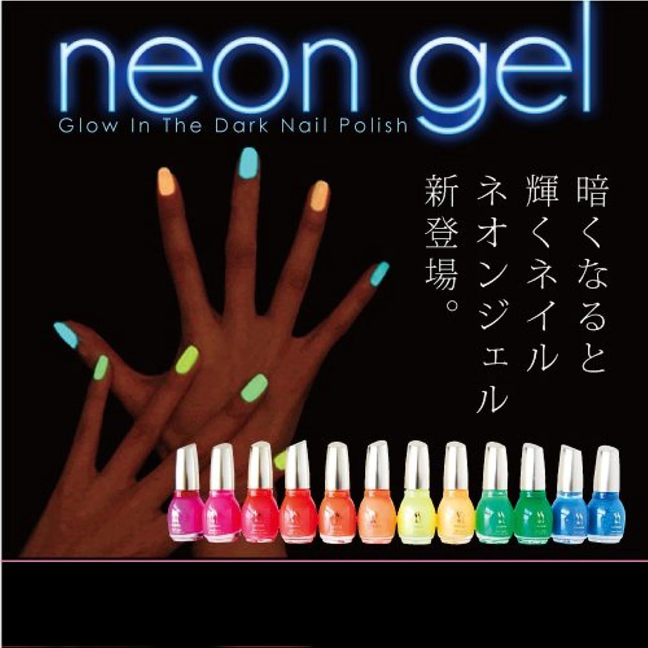 便利写真撮影鋸歯状Neon Gel -Glow In The Dark- 蛍光ネイルポリッシュ 15ml カラー:09 チェリーオレンジ [マニキュア ネイルカラー ジェルネイルカラー ネイルポリッシュ SHANTI]