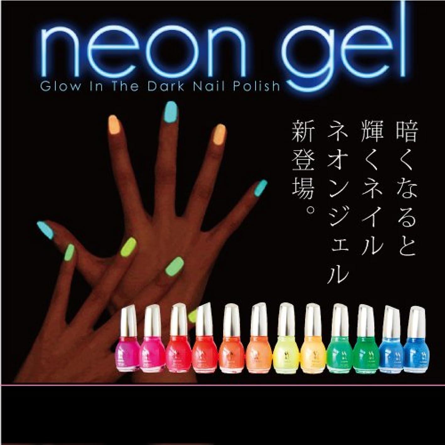 貢献する司法分類Neon Gel -Glow In The Dark- 蛍光ネイルポリッシュ 15ml カラー:09 チェリーオレンジ [マニキュア ネイルカラー ジェルネイルカラー ネイルポリッシュ SHANTI]