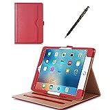 iPad Pro 9.7 ケース - ProCase 2016 Apple iPad Pro 9.7 Inchレザースタンド 折畳み保護ケース、多視野角、ドキュメントカードポケット (赤)