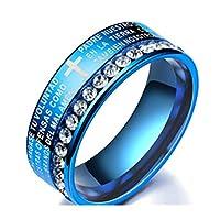 ダイヤが輝き 肌に優しい サージカルステンレス リング カップル ペアリング メンズ リング レディース リング 婚約指輪 結婚指輪 16スタイル11-25号揃え (16, 11)