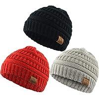 American Trends Baby Kids Knit Winter Warm Hats Boy Girl Infant Toddler Children's Beanie Caps