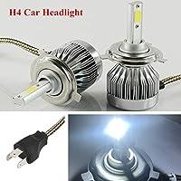 FidgetGear 防水2PCS自動車12VスーパーブライトH4 LED電球ヘッドライトアルミ合金
