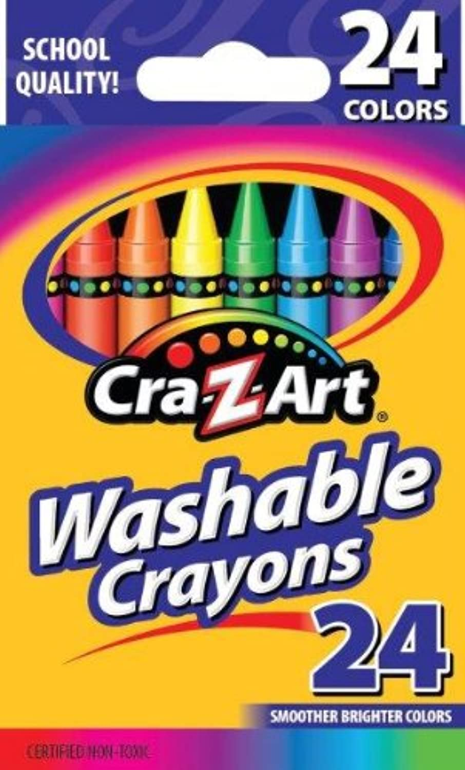 Cra-Z-Art Washable Crayons, 24 Count (10222) by Cra-Z-Art