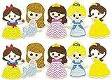 プリンセス ワッペン 10枚セット アイロンワッペン 入園準備 パッチ シンデレラ 白雪姫 人魚姫 [並行輸入品]