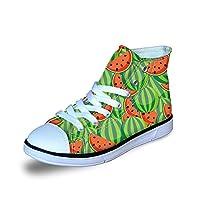 ThiKin 子供 スニーカー シューズ 靴 男の子 女の子 キッズ かわいい 果物柄 スイカ チェリー イチゴ ジュニア デザイン 通気性 超軽量 ファッション おしゃれ 個性的 3Dプリント プレゼント
