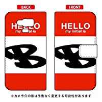 [AQUOS SERIE mini SHV31/au専用] Coverfull スマートフォンケース 手帳型スマートフォンケース Cf LTD ハロー イニシャル アルファベット B (レッド) ASHV31-IJTC-401-MD89