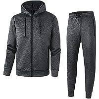 URBEX Men's Athletic Casual Tracksuit Pants Full Zip Hooded Jacket Sweatsuit Set for Men