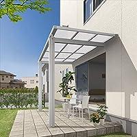 三協アルミ 独立式テラス レボリューD 3.0間×4尺 600タイプ/関東間/標準柱(H24)/2連結 熱線遮断ポリカ屋根  アーバングレー