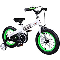 Royalbaby Button Kids' Bike with Training Wheels Perfect Gift for Kids. 16 Inch Wheels, Green by Royalbaby [並行輸入品]