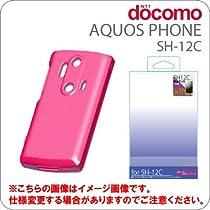 [docomo AQUOS PHONE(SH-12C)専用]シリコンケース ピンク【ジャケット/カバー】【スマートフォン/アクオスフォン/Android/アンドロイド/SH12C】