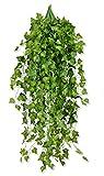 MedianField 【 観葉植物 アイビー 5本 】 壁掛け インテリア アンティーク 雑貨 造花 人工 フェイク 壁掛 グリーン 緑 植物 吊り (5本)