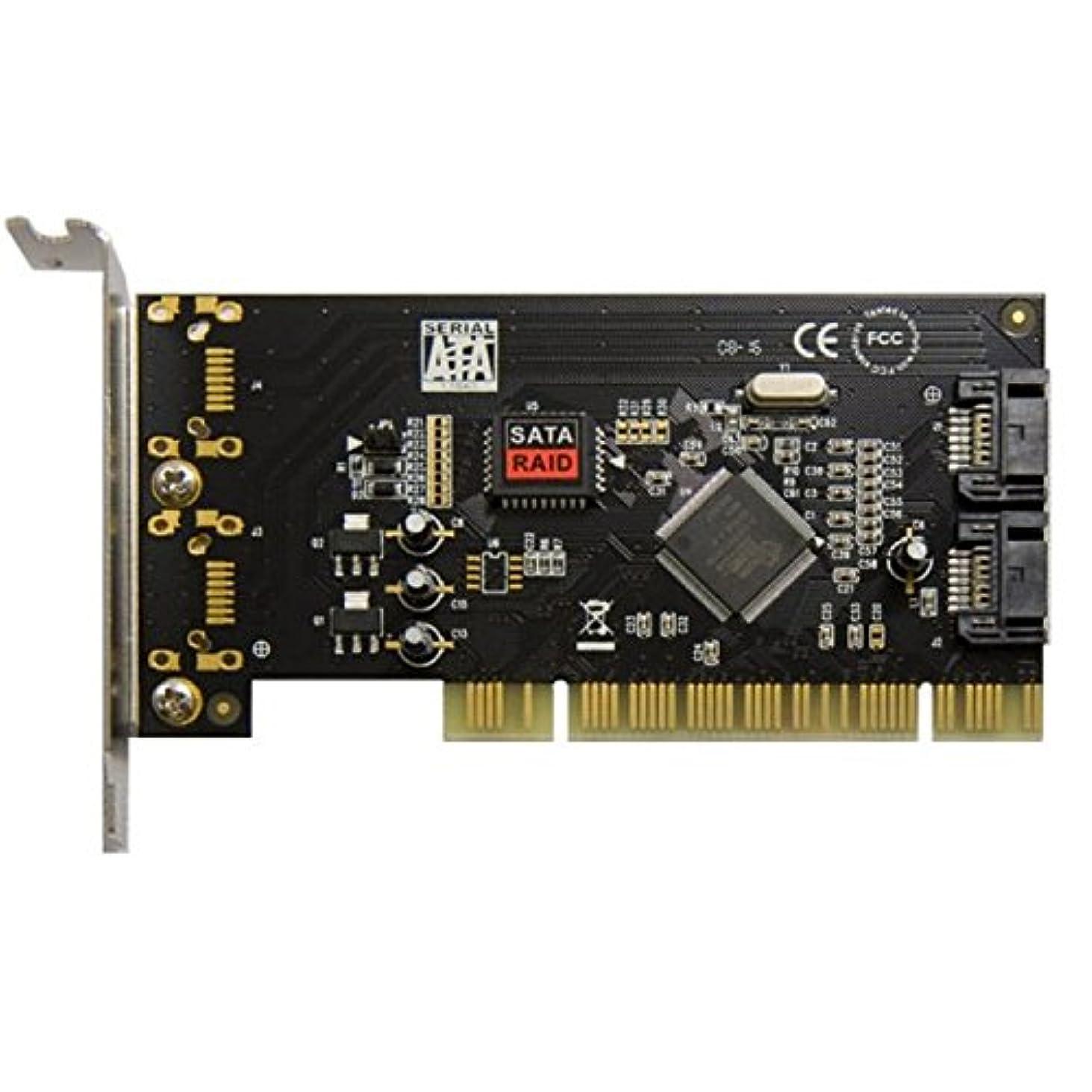 スーツを除くケーブルSyba sd-lp-sil2ir Low Profile PCI SATA 2ポートRaidカードwith sil3512