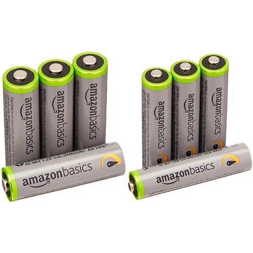 Amazonベーシック 高容量充電式ニッケル水素電池単3形4個+単4形4個パック