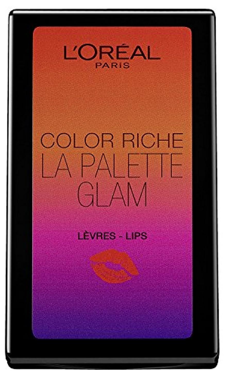 心から三背景2 x L'Oreal Paris Color Riche Lip Palette 6 Shades Sealed - Summer Glam