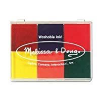 6-Washable Color Stamp Pad + FREE Melissa & Doug Scratch Art Mini-Pad Bundle [16377] by Melissa & Doug [並行輸入品]