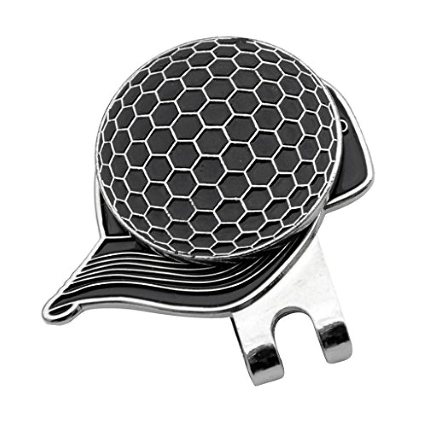 吸い込む洞察力探すDovewill 合金 帽子パタン ゴルフ ハットクリップ付 マグネット ボールマーカー グリーンマーカー 4色選べる - ブラック