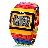 Mlflwind ユニセックス 腕時計 デジタル ファッションウォッチ LCD / カレンダー / クロノグラフ付き / アラーム Plastic バンド リストウォッチ / キャンディ (イェロー)