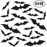 Ba-style(バスタイル) ハロウィン ウォールステッカー 蝙蝠 3D効果 DIY 学園祭 パーティー 壁紙 張り紙 防水 仮装 部屋飾り