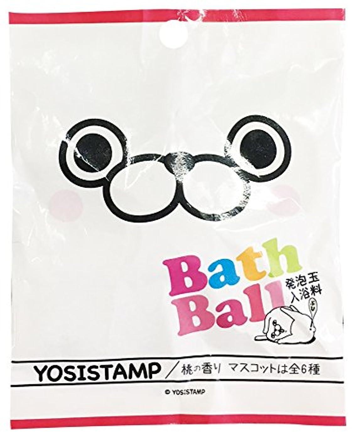 汚染された運動夢ヨッシースタンプ 入浴剤 バスボール おまけ付き 桃の香り ABD-004-001