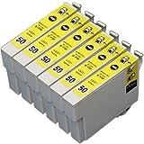 【むさしのメディアオリジナル】 EPSON互換 ICY50 6個セット インクカートリッジ *ICチップ(残量表示機能)付き