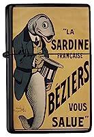 Petrol lighter ライター Printed sardine tails hat