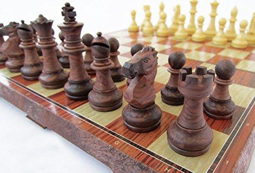 折りたたむと中にコマを収納できるチェスボード チェッカー (最大) 【平行輸入品】