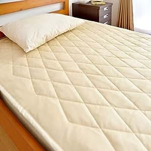 タンスのゲン 日本製 本麻敷きパッド シングル 25210001 IV