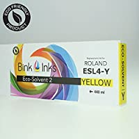 Bink Inks Eco-Sol MAX 2 インクカートリッジ ローランドプリンタ ESL4-4Y 交換用 イエロー 440ml