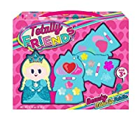 Totally Friends Kids Pretend Play Makeup Kit - Designer Girls Makeup Palette for Kids - Packed In a Cute Princess Shaped Shaped Vanity - Non-Toxic and Washable [並行輸入品]