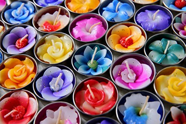 ウガンダ任命する誰でもHighclass glamour アロマ キャンドル フラワーキャンドル ティーライトキャンドル アロマの香り 10個 セット