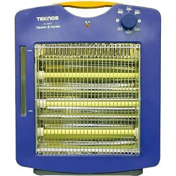 TEKNOS スチーム加湿機能付き 遠赤外線ヒーター 温度3段階調整 TS-900S(A)