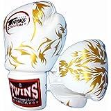 Twins ボクシンググローブ 本革製 リーフ White