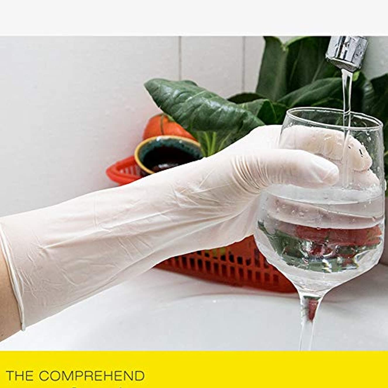 ポーク相関する今晩防水使い捨てラテックス手袋12