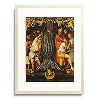 ハンス・ホルバイン Hans Holbein(父) 「Katharinenaltar, li.Flugel (ausen?): Martyrium des hl.Petrus. 1512. Fichten-」 額装アート作品
