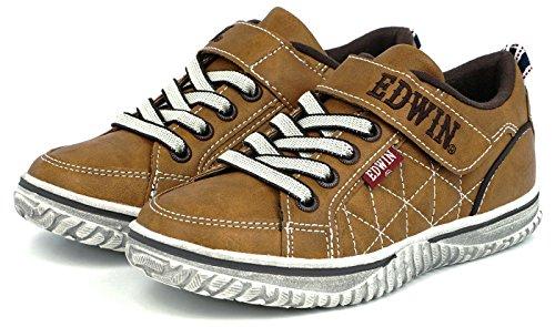 (エドウィン) EDWIN 子供靴 軽量 ローカットスニーカー キッズ 男の子 ジュニア カジュアル...